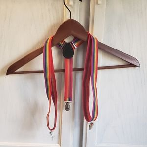 Rainbow Suspenders Boho Festival Wear